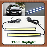 2pcs HRY® 17cm 600-700LM Daytime Running Light White/Blue Color Light COB DRL Waterproof Daylight(12V)