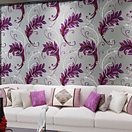 Contemporary Wallpaper Art Deco 3D Creative Peacock Feathers Wallpaper Wall Covering Non-woven Fabric Wall Art