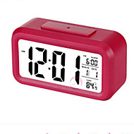 cabeceira luminosa relógio eletrônico criativo grande alarme de tela de relógio abs