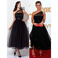 TS Couture Prom / Formal Evening / Wedding Party Dress - Black Plus Sizes / Petite A-line / Princess One Shoulder Ankle-length Tulle