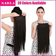 """24 """"140g 1ks klip na dlouhých rovných prodlužování vlasů syntetických žáruvzdorné vlákno vícebarevný příčesky"""