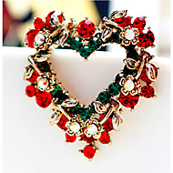 May Polly  Fashion high-end Christmas Heart Brooch