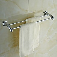 "Towel Bar Chrome Wall Mounted 605 x 145 x 55mm (23.82 x 5.71 x 2.16"") Brass / Crystal Contemporary"