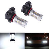 2Pcs HB4 6000K 9006 80W LED Car Headlight Fog Light Lamp Bulb Super Bright White