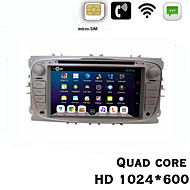 """Quad Core Android 4.2 Car DVD 7"""" HD 1024*600 3G Build-in with WCDMA Communication Function For Focus2 With Wi-Fi GPS BT"""