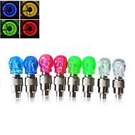 Luzes de Tampa luzes da roda Luzes de Tampa de Válvula LED - Ciclismo Fácil de Transportar AG10 50LM Lumens Bateria Ciclismo Motocicleta