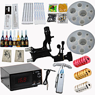 Dragonfly Rotary Tattoo Motor Machine  Kit Digital Power Supply Needles Ink Nozzles High Quality