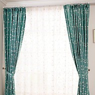 Two Panel Modern  Vine Flower  Embroidered  Cotton Energy Saving Curtains Drapes