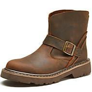 MasculinoCoturno / Botas de Cowboy / Botas Montaria / Botas da Moda / Botas de Motocicleta / Trabalho & Segurança-Rasteiro-Marrom-Couro-