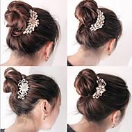 Forme de clip Accessoires pour cheveux Perle Noir Marron Argent Violet Rouge Perruques Accessoires Pour femme