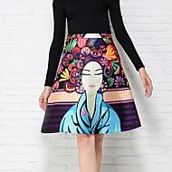 Women's Character Purple Skirts , Cute Knee-length