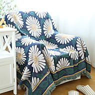 Cotton Daisies Thickening Line Decorative Carpet Sofa Towel Blanket