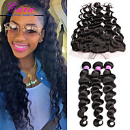 13x4 Brazilian Loose Wave Lace Frontal Closure With Bundles 6A Brazilian Virgin Hair With Lace Frontal Closure