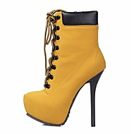 Women's Shoes  Platform  Round Toe Stiletto Heel Ankle Boots