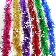 "3PCS/SET 200CM/78.4"" Christmas Decorations Fluffy Feather Boa Strip Fancy Dress Party Wedding Xmas Gift Random Color"