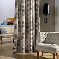 dvě panelové úsporné moderní tištěné bavlny energie záclony závěsy