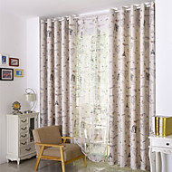 Country Curtains® Two Panels European Printing Blackout Curtains Drapes