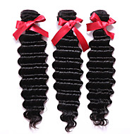 Az emberi haj sző Perui haj Mély hullám 12 hónap 3 darab haj sző