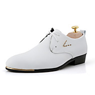 Men's Shoes Office & Career/Party & Evening/Casual Fashion PU Leather Oxfords Shoes Black/White 38-43