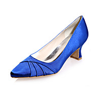 בלרינה\עקבים - נשים - נעלי חתונה - מרובע - חתונה / מסיבה וערב - שחור / כחול / ורוד / סגול / שנהב / לבן / כסוף / שמפניה