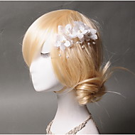 Women's Tulle / Imitation Pearl / Fabric Headpiece - Wedding / Special Occasion / Casual Hair Clip 1 Piece