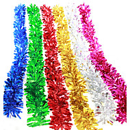 "10PCS/SET 200CM/78.4""  MIXED COLORS Christmas Decorations Fluffy Feather Boa Strip Fancy Dress Party Xmas Gift"