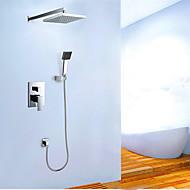 ברז למקלחת - עכשווי - מקלחת גשם / שפורפרת יד כלולה - Brass ( כרום )