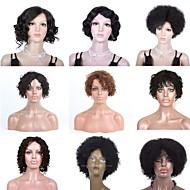 premierwigs 8a all'ingrosso 8 '' breve onda riccia capelli umani vergini brasiliani parrucche collezione colore biondo naturale