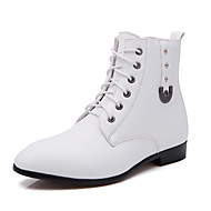 Men's Shoes Outdoor / Athletic / Casual Leather / Leatherette Boots Black / White