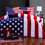 Amerika vlag dekbedovertrek set beddengoed set queen king size