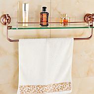 גאדג'ט לאמבטיה ירוק התקנה על הקיר 60cm*15cm*10cm(23.6*5.9*3.9inch) פליז / אבץ אלוי ניאוקלאסי