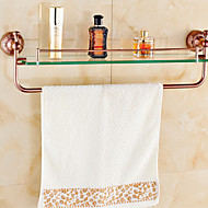 Bathroom Shelves,Rose Gold Wall Mounted Glass Shelf,Bathroom Accessory