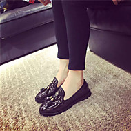 Women's Styles Patent Leather Casual Flat Heel Tassel Black / Brown