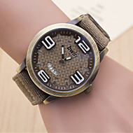 L.WEST Men's Triangle Notch Stereoscopic Digital Woven Belt Calendar Quartz Watch Wrist Watch Cool Watch Unique Watch