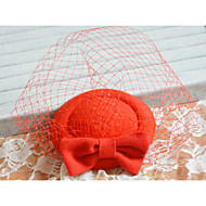 Red Hat Veil for Party Hair Fascinators