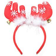 karácsonyi tollal agancs harang hajdíszek