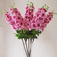 Austin delphinium no pano de seda flor artificial para decoração de casa (1piece)