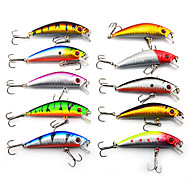 Hard Bait Minnow 70MM 8.5G Sinking Fishing Lure Packs (10 pcs)