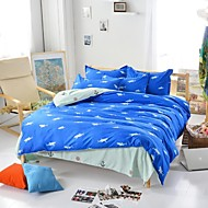 Mingjie® Royal Shark Blue Queen and Twin Size Sanding Bedding Sets 4pcs for Boys and Girls Bed Linen China