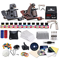 Dragonhawk® Complete Tattoo Kit 2 s Machines 11 Color Inks Power Supply Needles Set