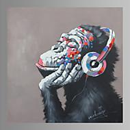 Vida Imóvel / Animal / Fantasia / Moderno / Pop Art Impressão em tela Um Painel Pronto para pendurar , Quadrada