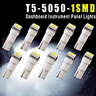 10pcs Auto t5 5050 1SMD Keil Xenon-weiße LED-Lampen 74 17 18 37 70 2721