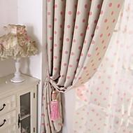 Dois Painéis Tratamento janela Moderno , Pontos Polka Sala de Estar Poliéster Material Blackout Cortinas cortinas Decoração para casa For