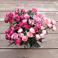 21 Head of European Herb Rose in Silk Cloth Artificial Flower for Home Decoration(10Piece)