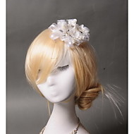 Women's Rhinestone / Tulle / Imitation Pearl Headpiece - Wedding / Special Occasion / Casual Flowers 1 Piece