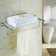 "Towel Warmer Chrome Wall Mounted 605 x 220 x 145mm (23.82 x 5.71 x 2.16"") Brass / Crystal Contemporary"