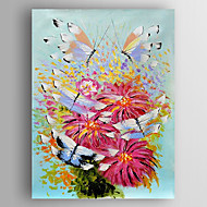 Oil Painting Butterflies on Flowers Hand Painted Canvas with Stretched Framed Ready to Hang