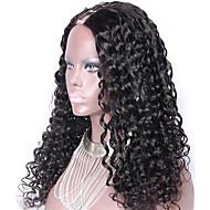 """nezpracovaný 10 """"-24"""" panna brazilské vlasy přírodní barevné vlnité 130% hustota 1 * 4inch díl u střední část paruka kudrnaté paruky"""