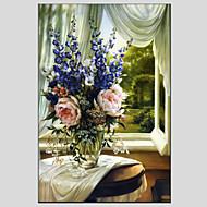 Dipinta a mano Floreale/BotanicalModern / Stile europeo Un Pannello Tela Hang-Dipinto ad olio For Decorazioni per la casa