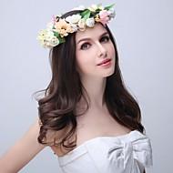 Women's / Flower Girl's Polyester / Foam / Fabric Headpiece - Wedding / Special Occasion / Outdoor Wreaths 1 Piece